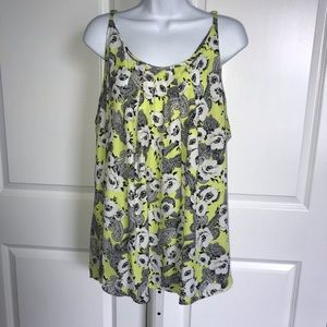 Torrid Yellow Paisley Floral Cami Tunic Top 4X